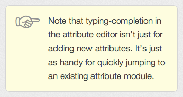 an example tip, styled using CSS